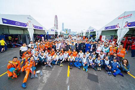 Jaguar I-PACE eTROPHY in the 2019 HKT Hong Kong ePrix